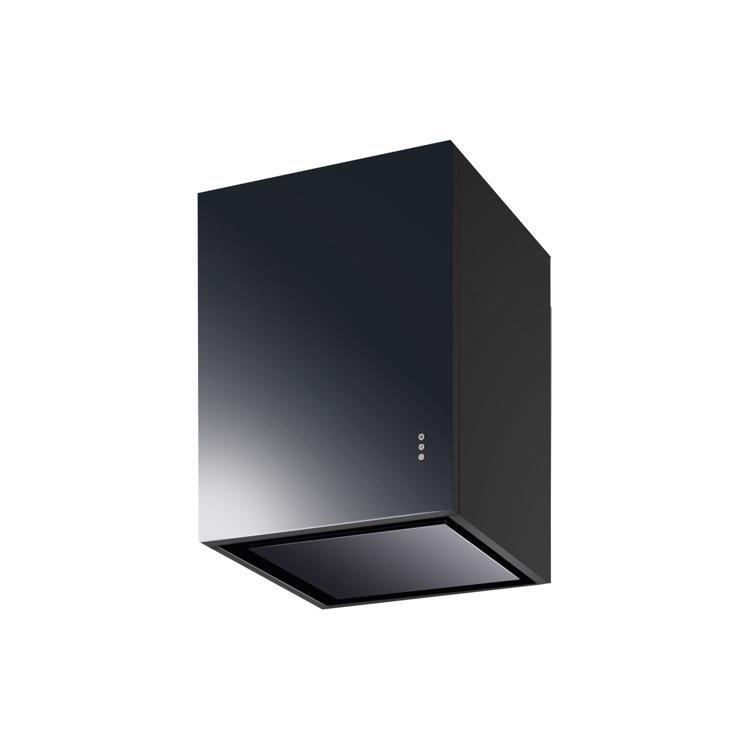 キューブ型レンジフード 照明なし W450×H600 ブラック