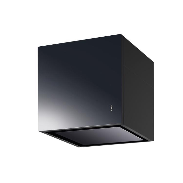 キューブ型レンジフード 照明なし W600×H600 ブラック
