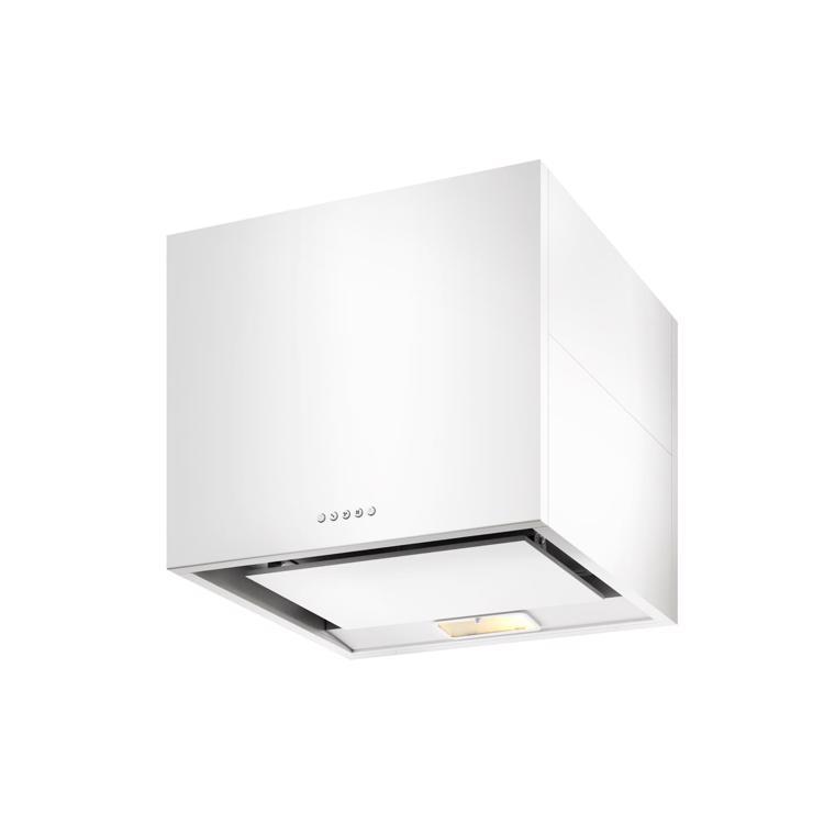 キューブ型レンジフード 照明付き W600×H500 ホワイト