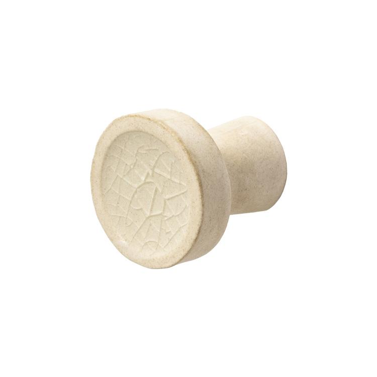 陶器のつまみ ホワイト