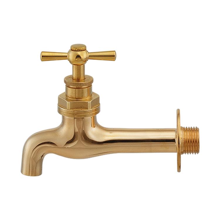 洗面機器(水栓) 水栓 WT-1:壁付け真鍮ハンドル単水栓