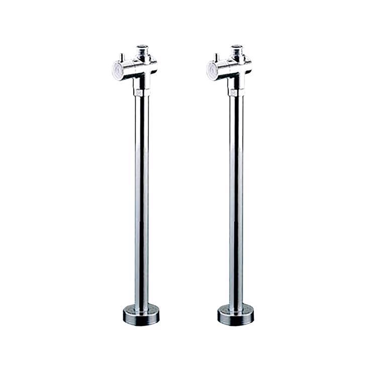 洗面機器(他パーツ) 止水栓 FK-1:混合栓用 床給水タイプ 2台セット