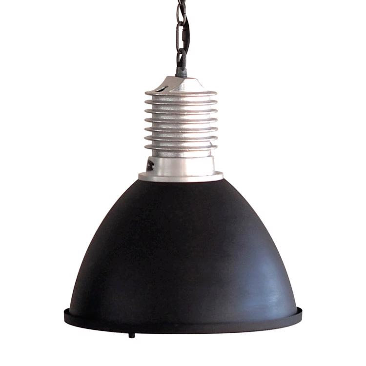 ファクトリーランプ シルバー バルブ型 ブラック