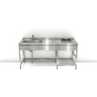 ステンレスフレームキッチン W1800×D600