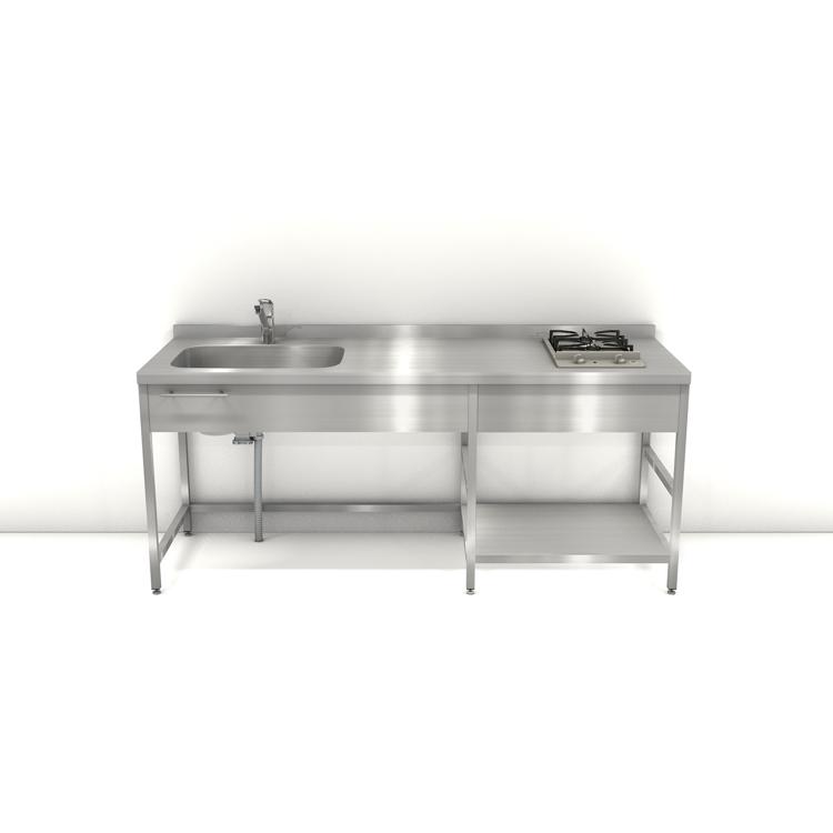 ステンレスフレームキッチン W1950×D600