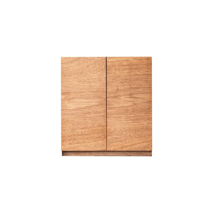 木製キッチンカウンター ラワン 開き戸