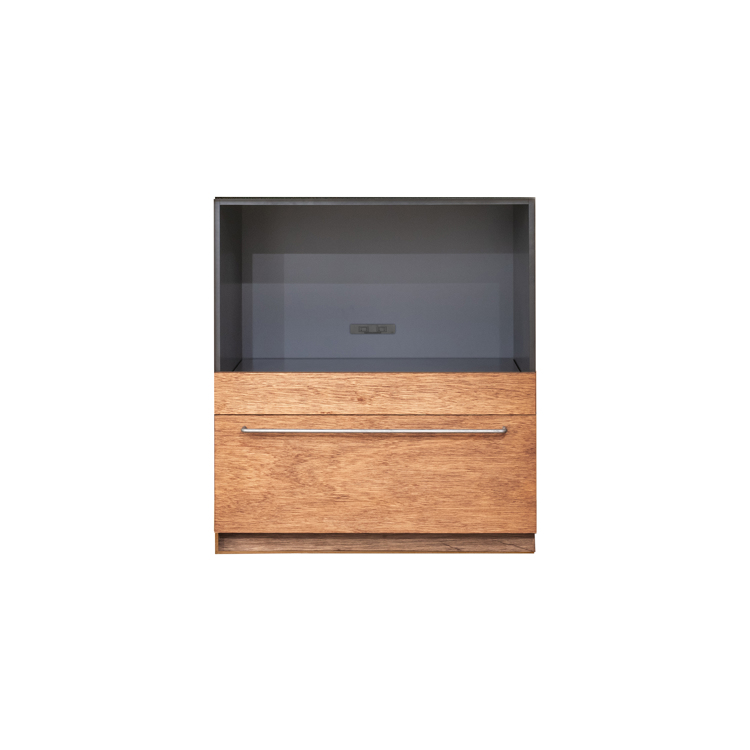 木製キッチンカウンター ラワン スライド