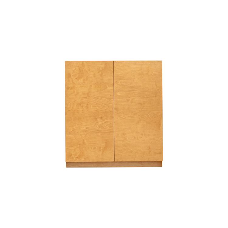 木製キッチンカウンター バーチ 開き戸