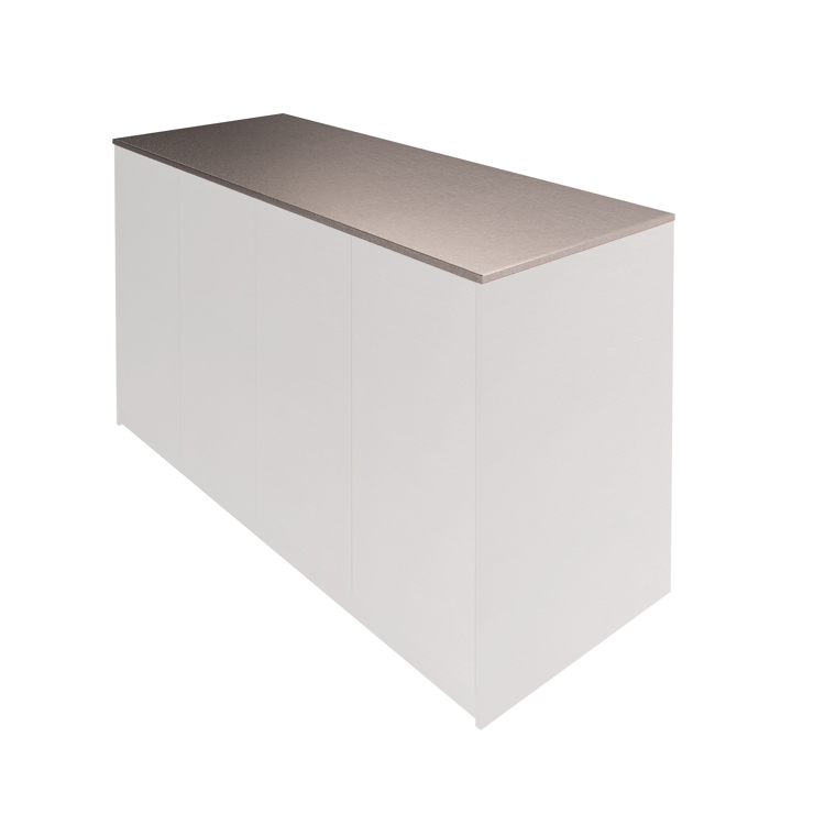木製キッチンカウンター ステンレス天板