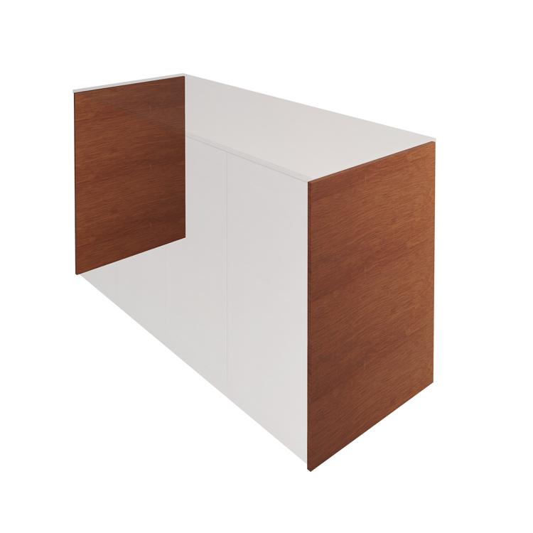 木製キッチンカウンター サイドパネル ラワン