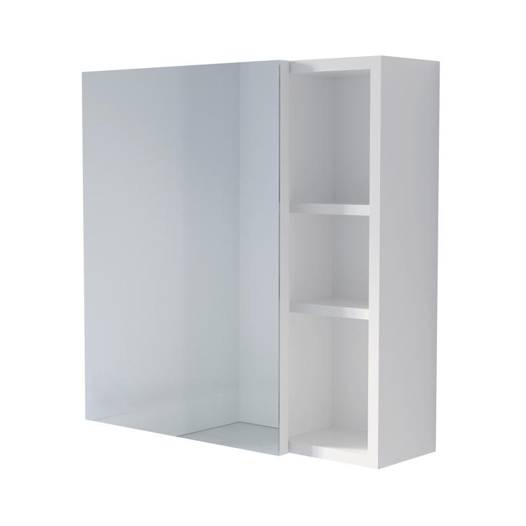 棚付きボックスミラー ホワイト