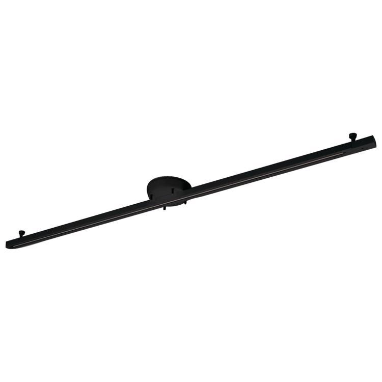 簡易取付式ライティングレール ブラック1.6m