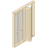 ウッドシャッター 折れ戸タイプ(両開き)