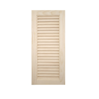木製パインキャビネットドア ルーバー 300×680