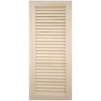 木製パインキャビネットドア ルーバー 375×900