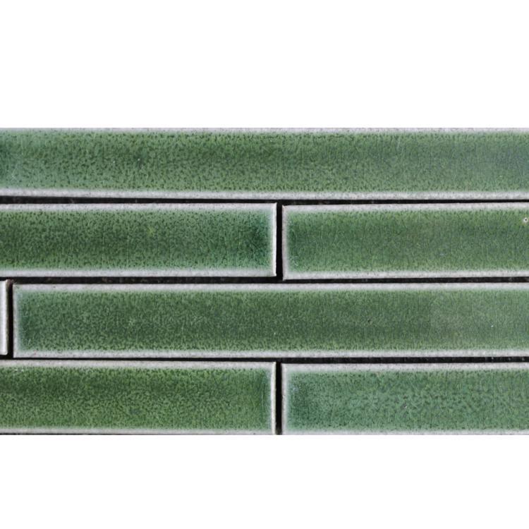 窯焼きボーダータイル グリーン
