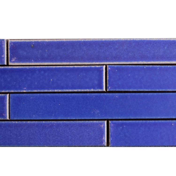 窯焼きボーダータイル 群青