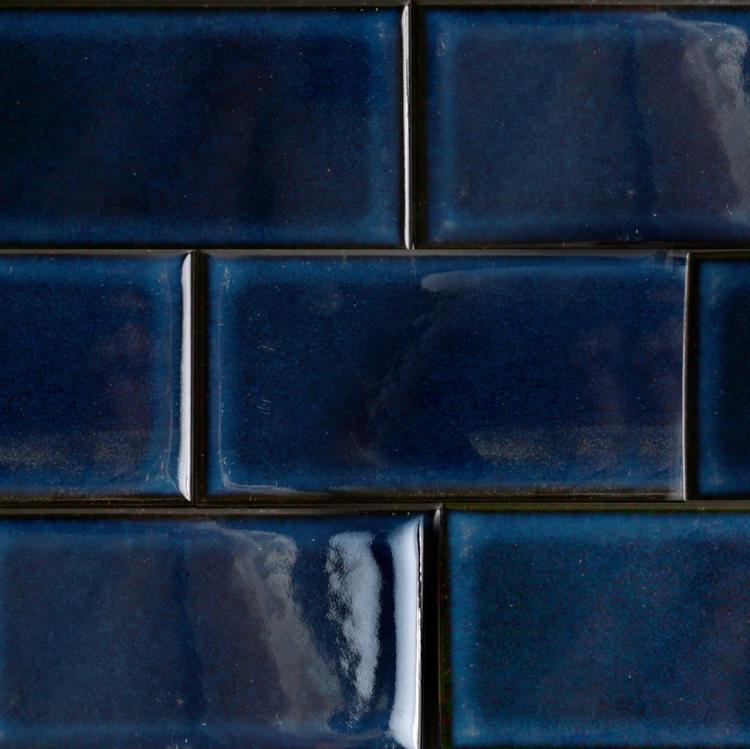 レトロエイジタイル ブルー 小口平(ケース)